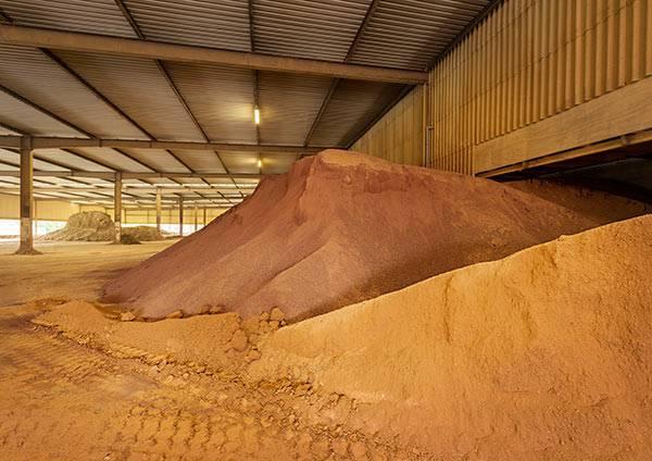 Lagerhalle für hochwertige Rohstoffe