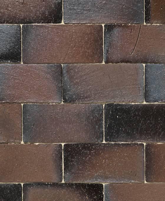 Braunviolett Retro Kohle ohne Fase flach verlegt 220x105x52