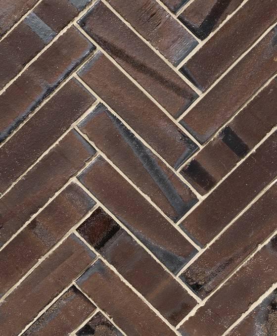 Braunviolett Retro Kohle ohne Fase hochkant verlegt 220x52x105