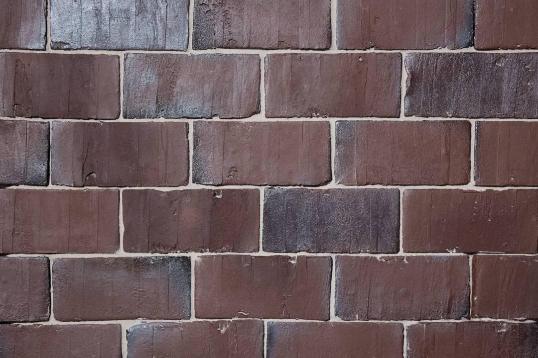Braunviolett Retro Kohle Handstrich flach verlegt 240x115x52